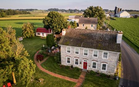 Aerial shot of Osceola Mill House Bed & Breakfast