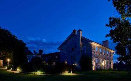 Night shot of B&B