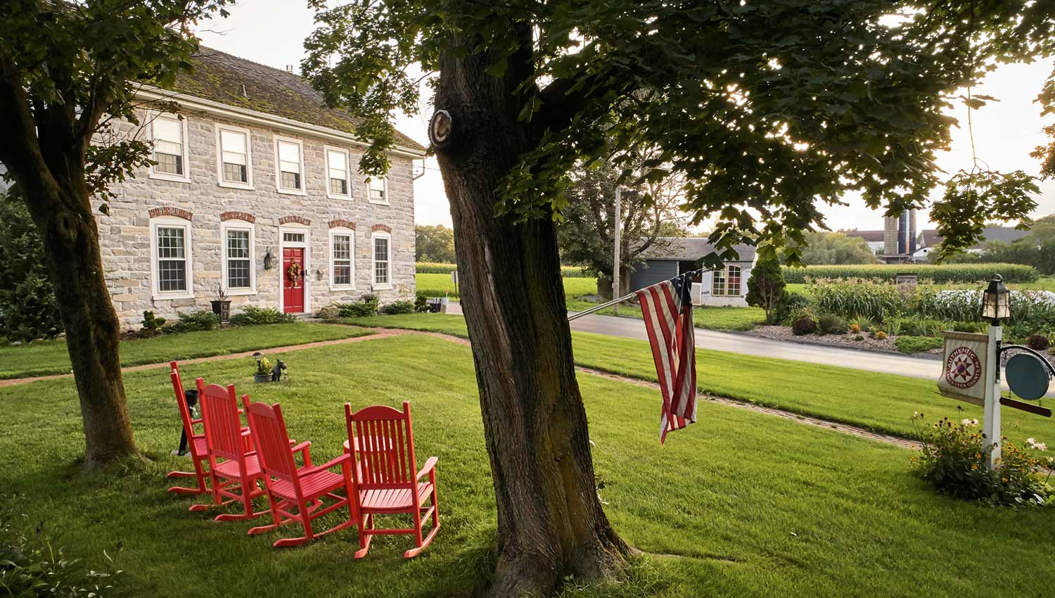 Rocking Chairs in B&B Front Yard